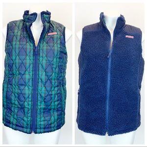 Vineyard Vines reversible faux shearling vest